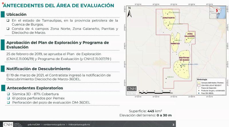 CNH aprueba modificación de Exploración y Producción 2.2 de Pantera al Programa de Evaluación